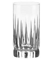 conjunto com 6 copos long drink royal em cristal 400ml strauss