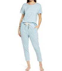 women's papinelle organic cotton knit pajamas, size x-small - blue