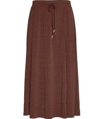 nabaiw skirt knälång kjol brun inwear