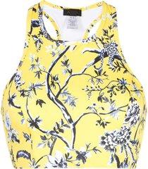 alala top esportivo floral - amarelo