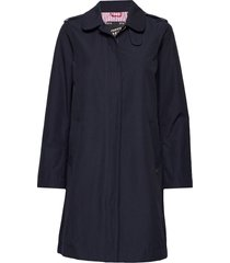 technical trenchcoat with zip closure trenchcoat lange jas blauw scotch & soda