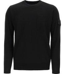 stone island shadow project crewneck sweater with pocket