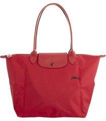 longchamp le pliage club shoulder bag l red