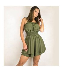 macaquinho dress code moda verde oliva