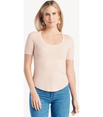 la made women's you half basic top in color: makeup pink size large from sole society