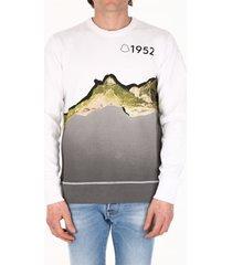 moncler landscape print sweatshirt white