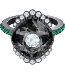 anillo con motivo black baroque, multicolor, baño de rutenio 5511388