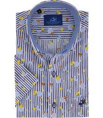 korte mouw overhemd eden valley blauw lemon