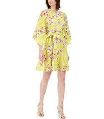 n natori peony garden printed belted dress