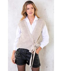 spencer strik vest beige