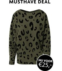 musthave deal leopard oversized trui