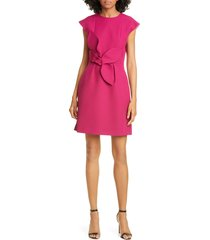 women's ted baker london polly structured bow minidress, size 1 - pink