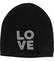 warm-me damian all over beanie hat - black