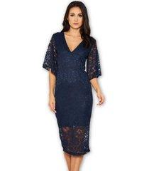 ax paris bell sleeve lace dress
