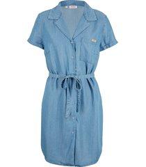 abito di jeans in tencel™ lyocell con cintura (blu) - john baner jeanswear