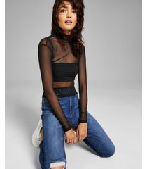 and now this women's mesh layering turtleneck top