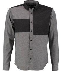 only & sons stevig zacht grijs overhemd
