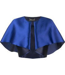 alberta ferretti blue silk blend jacket