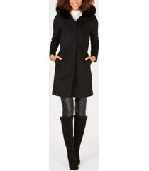 forecaster fox-fur-trim hooded walker coat