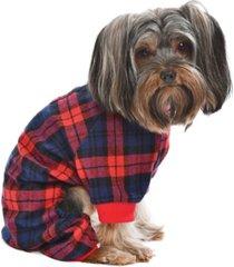 parisian pet scottish plaid dog pajama