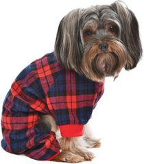 parisian pet scottish plaid dog pajama