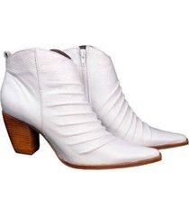 bota couro dina mirtz rugas curvadas feminina - feminino