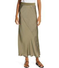 women's atm anthony thomas melillo silk maxi skirt, size x-small - green