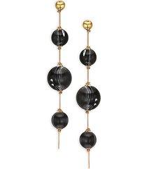 marble ball drop earrings