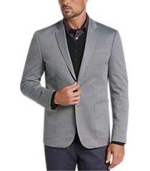 joe joseph abboud light gray casual coat