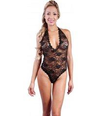 babydoll teddy woman sexy 2027 lenceria ropa interior mujer - negro