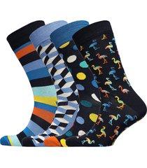 navy gift box underwear socks regular socks blå happy socks