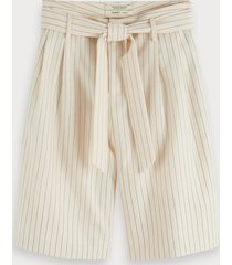 scotch & soda tie belt pinstripe shorts