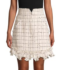 plaid mini tweed skirt
