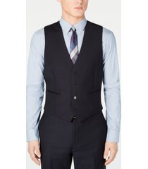 calvin klein men's modern-fit midnight blue stripe suit vest