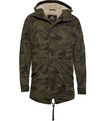 new military parka parka jacka grön superdry