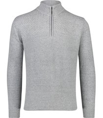 grijze trui met rits mouwlengte 7 portofino