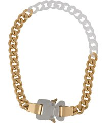 1017 alyx 9sm contrast chain-link necklace - gold