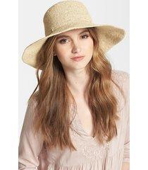 women's helen kaminski tahani raffia hat - beige