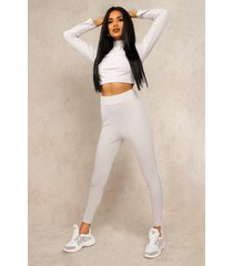 mix and match edition rib legging, grey