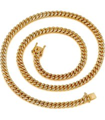 150 grams 10k solid gold miami cuban link chain necklace 12 carat diamonds 8.5mm