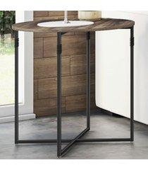 mesa de canto joice amêndoa negra/preto - novabras