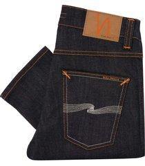 nudie jeans lean dean denim jeans - dry tonal ecru 113041