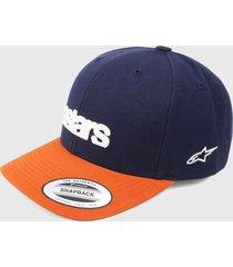 gorra azul-terracota alpinestars