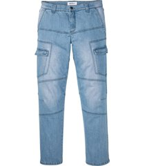 jeans elasticizzati cargo regular fit straight (blu) - john baner jeanswear