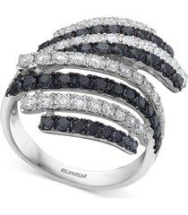 effy diamond stripe statement ring (2-1/4 ct. t.w.) in 14k white gold