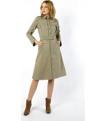żakietowa sukienka z bawełny i paskiem