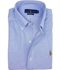 ralph lauren overhemd blauw knitted oxford