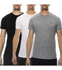 diesel 3 stuks jake crew neck t-shirt * gratis verzending *