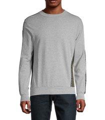 antony morato men's roundneck stretch-cotton sweatshirt - medium grey - size s