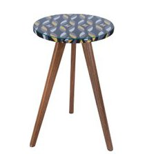 mesa lateral alta daf mobiliário minion sarja 46cm colorido preto